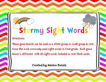 Stormy Sight Words