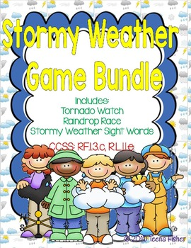 Stormy Weather First Grade Treasures Reading Series Game Bundle