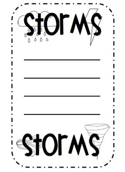 Stormy Weather {Poetry, Glyph Craft, Graphing}