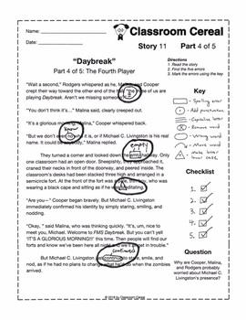 "Story 11: ""Daybreak"" Teacher Version"