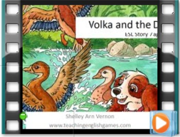 Story 7 Ducks - Movie with audio for action verbs, nouns from nature