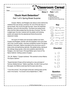 "Story 8: ""Duck Hunt Detention"" Part 1 of 5"