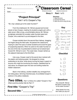 "Story 9: ""Project Principal"" Part 1 of 5"