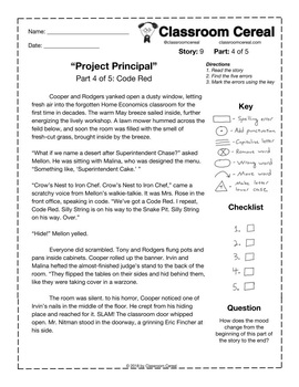 "Story 9: ""Project Principal"" Part 4 of 5"