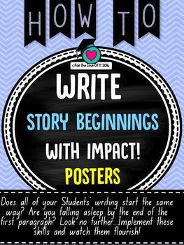 Story Beginnings that Impact!!!