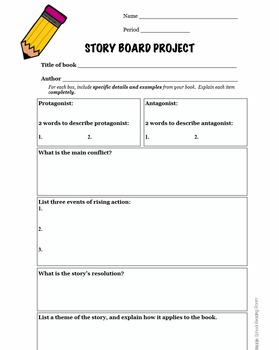 Story Board Book Project and Rubric