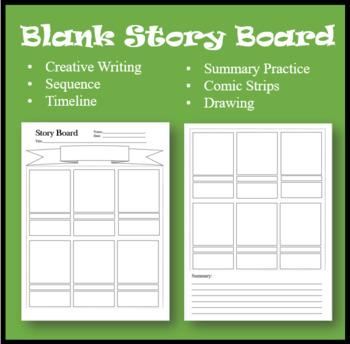 Story Board/Comic Strip--Creative Writing Worksheet