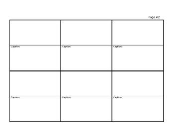 Story Board Template - 12 Frames w/Caption Area