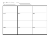 Story Board Template - 12 Frames w/Caption Area