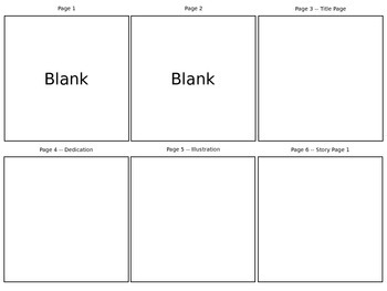 Children's Book Project - Planning/Storyboard