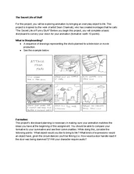Story Boarding Animation Formative Exercise