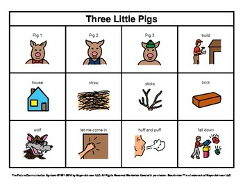 story boards set 8 the three little pigs goldilocks and the three bears. Black Bedroom Furniture Sets. Home Design Ideas