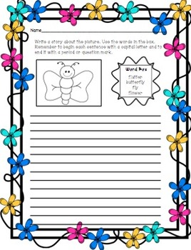 Story Box Writing (Spring Writing) Print and Go!