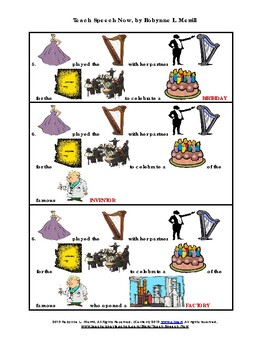 """Story Builder for the Vowel /R/-""""The Birthday Celebration"""""""