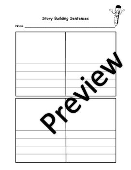 Story Building Sentences