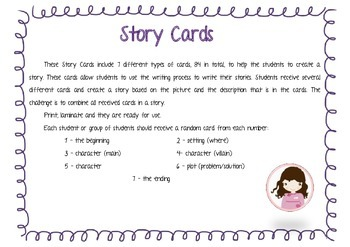 Story Card Set with 84 Printable Cards