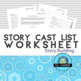 Story Cast List Worksheets