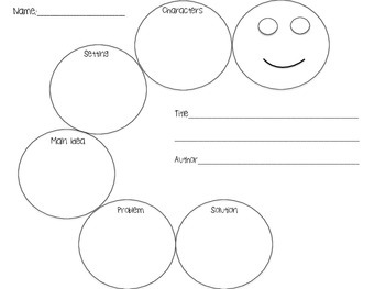 Story Caterpillar Describing Web Speech and Language Therapy CCSS Freebie