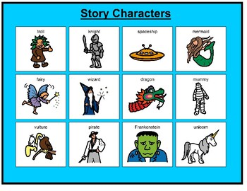 Story Characters Matching Board Game!