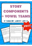 Story Components & Vowel Teams/Digraphs *FREE*