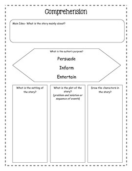 Story Comprehension Graphic Organizer