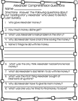 Story Comprehension Questions