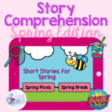 Story Comprehension: Spring Edition (with GIF Backgrounds) - BOOM Cards™