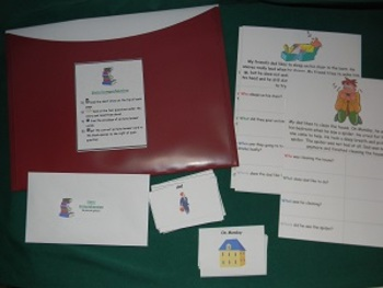 Story Comprehension: Teacher Made Educational Game, tool, Literacy Center