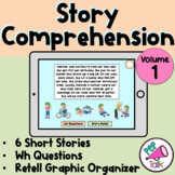 Story Comprehension with WH Questions and Story Retell Organizer