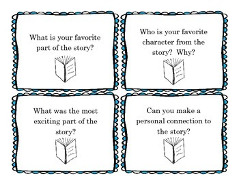Story Conversation Cards for discussing works of fiction