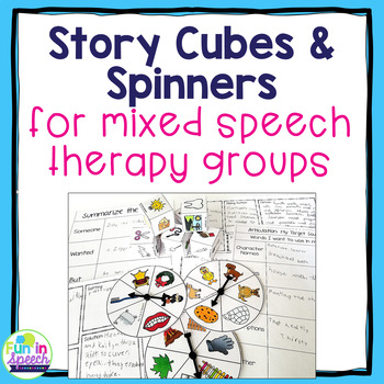 Story Cube & Spinner Activities for Speech & Lang Therapy-Great for Mixed Groups