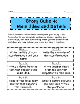 Story Cube Literature Group Project