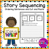 Story Retell Cut and Paste Sequencing and Sentence Writing