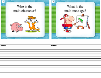 Story Discussion Cards (Aligned with Common Core - K -3rd)