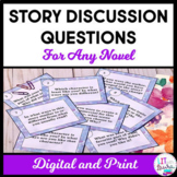 Story Discussion Cards for Any Novel Digital and Print