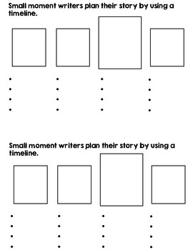 Story Drafting Boxes for Writer's Workshop