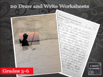 Creative writing worksheets with Drawing activities