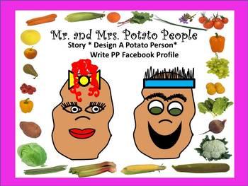 """Story """"Edgar Potato"""" and Design A Potato Person Plus Write Their """"Profile"""""""