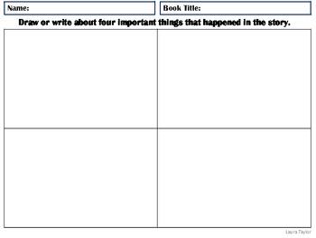 Story Element Activities for Kindergarten