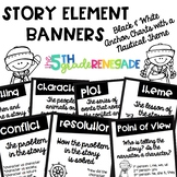 Story Element Banners Nautical Theme ~Black & White~ For E