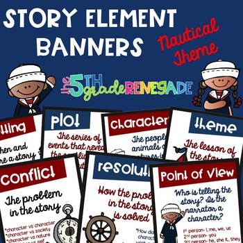 Story Element Colored Banners Nautical Theme