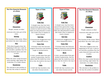 Story Element Bookmarks