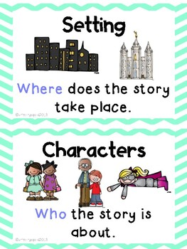 Story Element Cards and Worksheet