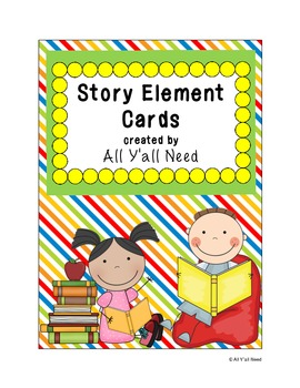 Story Element Cards in Color and B&W