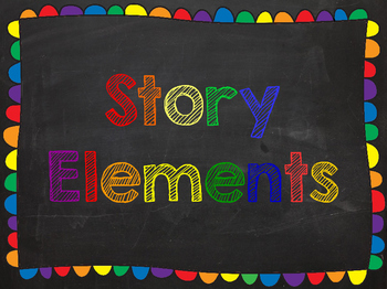 Story Element Chalkboard Posters