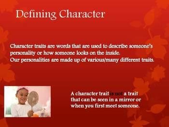 Story Element/ Character Traits