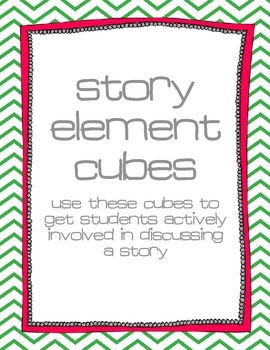 Story Element Cubes