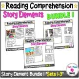 Kindergarten Story Element Worksheets Bundle- Sets 1-4