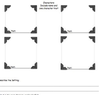 Story Element Mapping & Plot Diagram Project for Short Stories