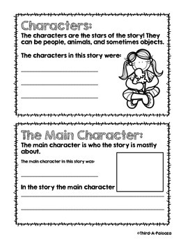 Story Elements Mini Book to be used with any text!